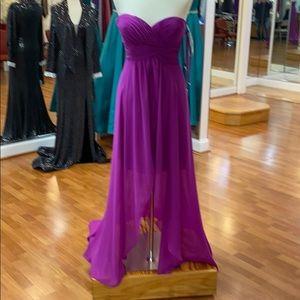 Germanium purple bridesmaid dress